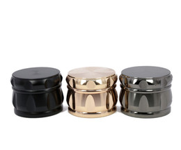 High quality sharp stone Zinc Alloy Tobacco Grinder Rhomboid Chamfering Side Concave Drum Style Herbal Herb Crusher Gift 43MM 4 Layer