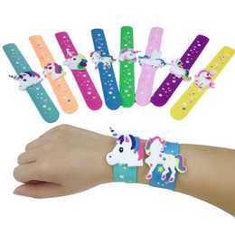 $enCountryForm.capitalKeyWord Australia - New Unicorn Party Rubber Bangle Bracelet Unicornio Birthday Party Decorations Kids Gifts Baby Shower Boy Girl Event Party Favors