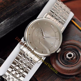 Wholesale Cheap New Elegant Date Grey Dial Automatic Mens Watch L Steel Band Sapphire High Quality Business Watches