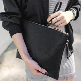 women summer clutch NZ - Designer-2019 fashion clutch official website summer and autumn new women handbag minimalist big-handed clutch envelope bag shoulder bag