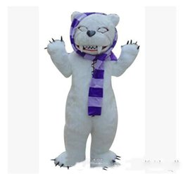 make prop NZ - 2020 new professional Make make-up animal cartoon costumes performance props costumes stage white bear zombie bear mascot adult size