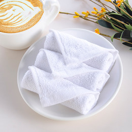 $enCountryForm.capitalKeyWord Australia - 20*20cm White Cotton Small Square Towel Kindergarten Children Handkerchief Towel Hotel Kitchen Napkin Rag Cheap Small Towels BH2217 CY