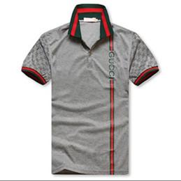Discount shirt man short button - Mens Luxury designer Short Sleeved Lapel Neck T-shirt Summer Breathable Button Pullover T-shirt Mens Patchwork Tops Clot