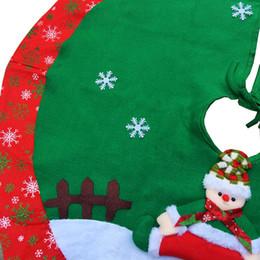 $enCountryForm.capitalKeyWord Australia - Christmas Tree Skirts Cloth High-grade Embroidered Christmas Snowman Tree Ornaments Decoration 90cm Oct29