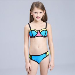 $enCountryForm.capitalKeyWord NZ - Girls Bikini Children Swimsuit Patchwork Swimwear For Teenage Girl 3-12 Years Kids Two Pieces Bathing Suits Y19072701