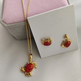 $enCountryForm.capitalKeyWord Australia - red fully-stones crab copper necklace ring earrings jewelry set