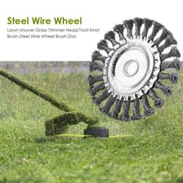 Head blades online shopping - Steel Wire Wheel Garden Brush Lawn Mower Cutter Blade Trimmer Metal Blades Trimmer Head Garden Saw Blade Cutting Grass Tree