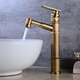 $enCountryForm.capitalKeyWord Australia - New Design Bathroom Faucets Single Handle Pull Out Sprayer Brass Basin Faucet Mixer Tap Surface Mounted Antique Bronze Faucets
