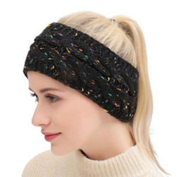 Discount men winter dress hats Designer Knitted Headband Adults Man Woman Sport Winter Warm Beanies Hair Accessories Boho headbands Fascinator Hat Head