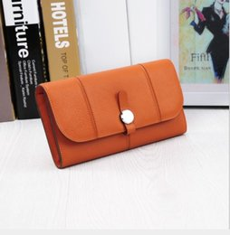 h purses NZ - The new head layer cowhide wallet Ms wallet long hand bag photo H joker purse the original single wholesale