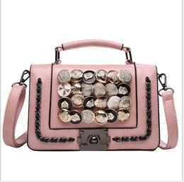 Small Hand Luggage Bags Australia - Fashion brand handbag designer handbag Europe and America ladies luxury handbags fashion wallet button hand luggage lock outdoor bag free sh