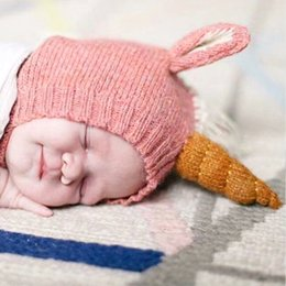 efd337d3db171 Unicorn Baby Hat Kids Knitted Winter Caps cute cotton Infant Hand Knitted  Caps Boys Caps Girls Hats Wholesale Cartoon Boys Hats A2206