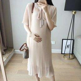 ca6f3b68a5c Vestido de verano para mujeres embarazadas Vestido 2019 Nuevo traje de  maternidad para mujeres embarazadas Vestido de verano