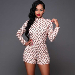 54d50a2ccee gold jumpsuit macacao feminino sequin bodysuit short jumpsuit body mujer  women bodys mujer rompers womens jumpsuits streetwear