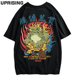 chinese cards NZ - new Chinese style card street personality Hip hop Europe and America Short sleeve t-shirt Human head Chinese characters