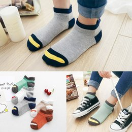 $enCountryForm.capitalKeyWord Australia - 10Pcs lot Spring Summer children's socks Mesh Cotton Socks for a boy Striped Solid for children Girls Kids Sport