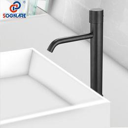 $enCountryForm.capitalKeyWord Australia - Luxury Waterfall Tap Tall Bathroom Basin Faucet Contemporary Single Lever Sink Mixer Tap for Bathroom Sink Faucet Water Crane