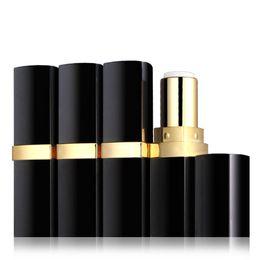 $enCountryForm.capitalKeyWord Australia - New 20 Pcs lot Empty Lip Balm Tubes Container Lipstick Fashion Cool Lip Tubes Lipstick Tube Bottle Black Color DIY 12.1mm