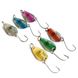 fishing lures spinners spoons UK - 100pcs Metal Fishing Spoon Lures Hard Bait 2.5cm 3g Fishing Spinner Spoon Jigging Bait Fishing Tackle Mix Color