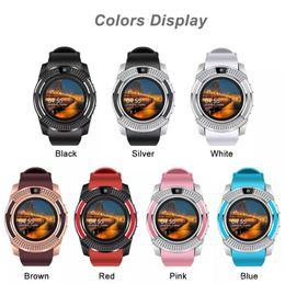 Bluetooth Smart Watch Sim Australia - V8 SmartWatch Bluetooth Smartwatch Touch Screen Wrist Watch with Camera SIM Card Slot, Waterproof Smart Watch DZ09 X6 VS M2 A1(Retail)