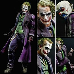 batman dark knight figure 2019 - Play Arts KAI Batman The Dark Knight The Joker PVC Action Figure Colletible Model Toy 25cm cheap batman dark knight figu