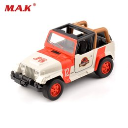 White Toy Jeep Australia - Cheap kids toys 1 32 Alloy Diecast Jeep Wrangler Jurassic Park 1 32 Scale Orange White Diecast car model toys Children Gift