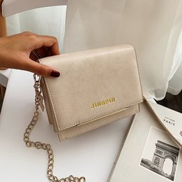 $enCountryForm.capitalKeyWord Australia - 2019 Fashion Letter Women's Designer Handbag New Arrival Solid Female Square Bag PU Leather Chain Shoulder Messenger Bags Sac