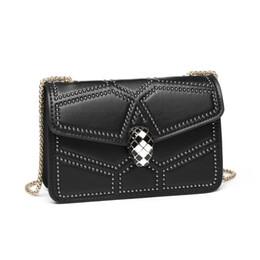 $enCountryForm.capitalKeyWord UK - Luxurious2019 Chain Snake Bag Woman Genuine Leather Single Shoulder Messenger Mini- Rivet Small Square Package