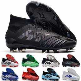 Discount youth indoor soccer cleats - Laceless Predator 19+ 19.1 FG AG PP Paul Pogba Virtuso 19 Mens soccer shoes chuteiras de futebol Youth Boys Football cle