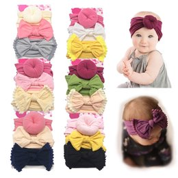 headbands bow Australia - Free DHL Newborn Bows baby headbands nylon newborn designer headband girls designer headbands designer hair accessories for kids headband