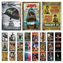 2019 Classic Film metallo segno di metallo poster Targa in metallo decorazione della parete della placca di metallo dell'annata per il Bar Pub Club uomo delle caverne Segni 20x30cm ABOX in Offerta