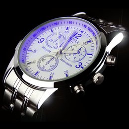 $enCountryForm.capitalKeyWord UK - Steel Bring Lovers Surface Men And Women Korean Popular Heat A Pin Noctilucent Business Affairs Table Jajaron Blue Light Wrist Watch