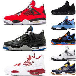 Jacks Pack Australia - Best Quality 4s Bred Hot Punch Cement Fear-Pack Pure-Money Basketball Shoes Men 4 Tattoo Motosports Royalty cactus jack Sneakers Trainers