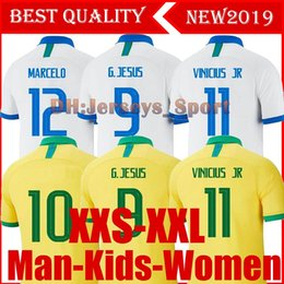 0728bc84eee 2019 Brazil American Cup football team jersey men jersey VINICIUS FIRMINO  football jersey women's World Cup custom football kids shirt kit