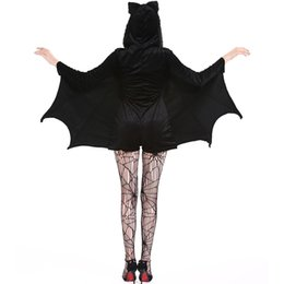 $enCountryForm.capitalKeyWord Australia - Women's Cosplay Batman Dress Black Bat Vampires Devils Party Cosplay Uniform Dress Halloween Costume Animal Theme Halloween Clothing M-4XL
