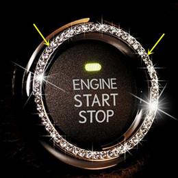 Wholesale Three Color AUTO DECORATIVE ACCESSORIES Car BUTTON START Switch Diamond