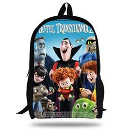 $enCountryForm.capitalKeyWord UK - 16inch Popular Cartoon School Bag For Pupils Hotel Transylvania Backpack For Kids Boys Girls Print Travel Bag Children