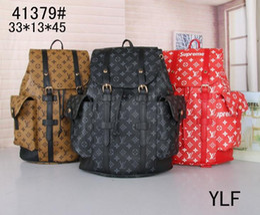 New back bag online shopping - Genuine Leather High Quality size new men women s Backpack famous Backpack Design lady backpacks Bags Women Men back pack