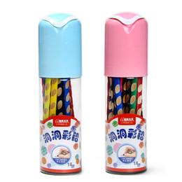 Lead Pens Australia - Innovative hot sale hole pen Color pencil 18 color children primary school posture prevention anti-myopia painting color lead set wholesale