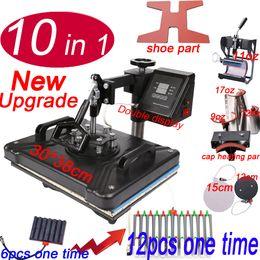 Printers for t shirt Printing online shopping - 10 in Combo Heat Press Printer Machine shoe pen press machine for Cap Mug Plate bottle T shirts Printing