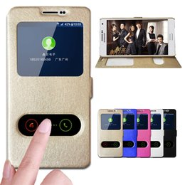 View Window Case Australia - For Samsung A3 2015 Case Quick Answer View Window Flip Silk PU Leather Case For Samsung Galaxy A3 2015 A300 A3000 Phone Cases