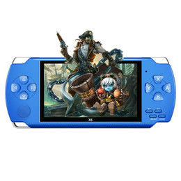 Portable PmP Player online shopping - PMP X6 Handheld Game Console Screen For PSP X6 Game Store Classic Games TV Output Portable Video Game Player