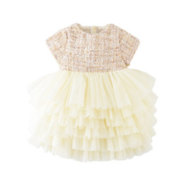 Chinese  Baby Girls designer Dress Cute Mesh Party Pageant Tutu Dress Toddler Kids Dress For Girl Clothes Vestidos B50 manufacturers