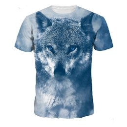 Jerseys Wolf Australia - Men's Short Sleeve T-shirts Fashion Funny Wolf Printed Tshirts Summer Jersey Costume T-shirt Casual Cotton Tees