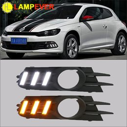 vw drl light Canada - Car styling for VW Scirocco R LED DRL 2009-2014 Scirocco R DRL Racing Daytime Running Light Fog Lamp Automotive Accessories