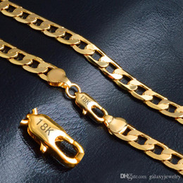 Torques Gold 18k Australia - YHAMNI Pure Gold Color Necklace With 18KStamp New Fashion Men Jewelry Wholesale Classic Link Chain Collar Fashion Necklace NX180