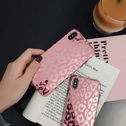 Leopard Print Plates Australia - Fashion Pink Plating Leopard Print IPhone Xsmax Mobile Phone Case Suitable for Apple Gilding Soft Female