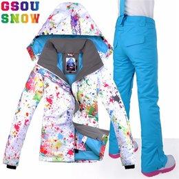 8a0a9190e5 Ski Clothing Brands Australia - GSOU SNOW Brand Ski Suit Women Waterproof  Skiing Jacket + Snowboard
