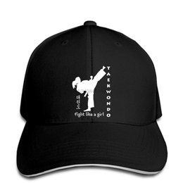 China Taekwondo fight like a girl tkd martial arts t Baseball Cap gym feminist cheap taekwondo art suppliers