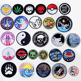 $enCountryForm.capitalKeyWord Australia - Circular Ring Iron On Patches Badges for Sew Seam Tailoring Clothes Suits of Coat Jacket Trousers T-shirt Pants Ornament Apparel